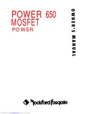 Rockford fosgate POWER 650 MOSFET Manuals | ManualsLibManualsLib