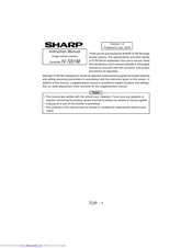 Sharp IV-S51M Instruction Manual