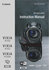 Canon VIXIA HF R52 Instruction Manual