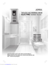 Hitachi HES-45RDS Instruction And Installation Manual