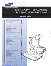 Samsung SVP-5200N Operation Manual