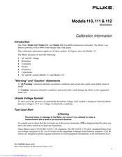 Fluke 111 Calibration Information Manual