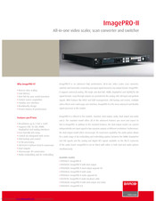 Barco ImagePRO-II Specifications