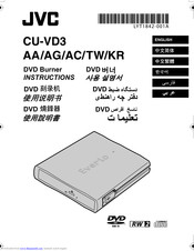 JVC CU-VD3 AG Instructions Manual