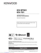 KENWOOD KIV-BT901 INSTRUCTION MANUAL Pdf Download. on