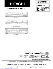 Hitachi DV-PF6E Service Manual