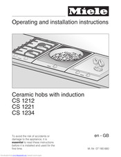 Miele CS 1212 Operating And Installation Instructions