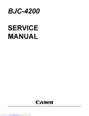 Canon BJC-4200 Color Bubble Jet Service Manual