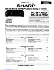 Sharp DX-55HM Service Manual