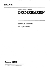 Sony PowerHAD DXC-D30PK Service Manual