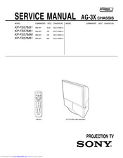 Sony KP-FS57M31 Service Manual
