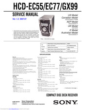 Sony HCD-EC55 - Receiver System Service Manual