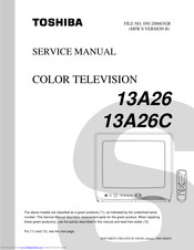 Toshiba 13A26 Service Manual