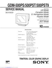 Sony Trinitron Gdm 500ps Manuals Manualslib