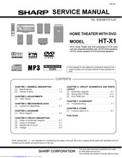 Sharp HT-X1 Service Manual