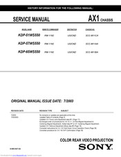 Sony KDP-51WS570 Service Manual