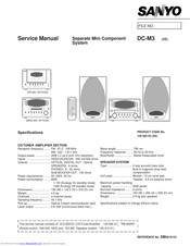 Sanyo MDG-M3 Service Manual