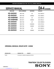 Sony KD-34XBR960 Instructions: TV stand Service Manual
