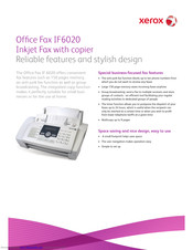 Xerox IF6020 Specifications