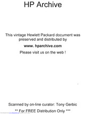 HP 492A Operating And Service Manual