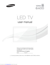 Samsung UN65F6400 User Manual