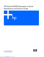 HP ProLiant DL380 G4 DPSS Maintenance And Service Manual