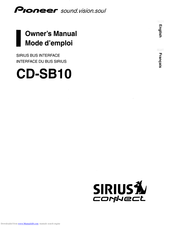 Pioneer CD-SB10 Owner's Manual