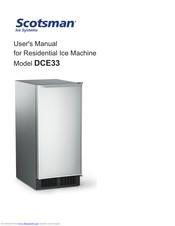 Scotsman Dce33 User Manual Pdf Download Manualslib
