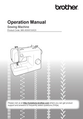 Brother 888-X13 Operation Manual