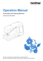 Brother 882-C40 Operational Manual