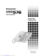 Panasonic DBS 576 Section 300 Technical Manual
