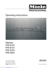 Miele Professional PW 6131 Operating Instructions Manual