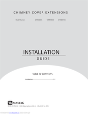 Maytag CHMEX8136 Installation Manual