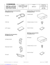 Honda 08A03-5E1-001 Installation Instructions Manual