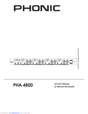 Phonic PHA 4800 User Manual