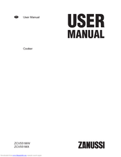Zanussi ZCV551MW User Manual