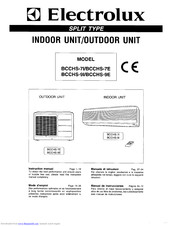 Electrolux BCCHS-9E Instruction Manual