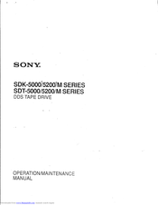 Sony SDT-5000M Operation Manual