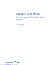 Plantronics Voyager Legend Uc B235 M User Manual Pdf Download Manualslib