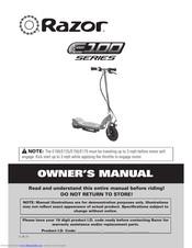 Razor E175 Manuals