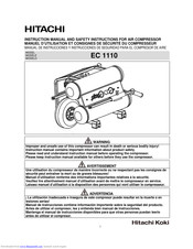 Hitachi EC 1110 Instruction Manual And Safety Instructions
