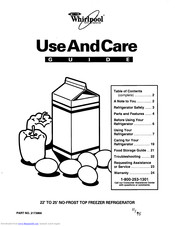 Whirlpool Freezer Refrigerator Use And Care Manual