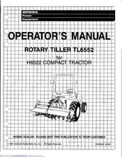 Honda TL6552 Operator's Manual