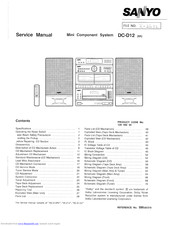 Sanyo DC-D12 Service Manual