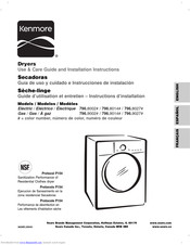 Kenmore 796.9014 Series Use & Care Manual And Installation Instructions