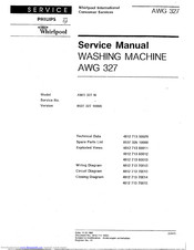 Whirlpool AWG 327 W Service Manual