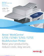 Xerox WorkCentre 5740A Brochure & Specs