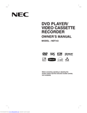 NEC NDT-43 Owner's Manual