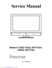 Vizio Vw42l 42 Inch Lcd Hdtv Manuals Manualslib