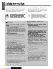 Panasonic CQ-C5403W Operating Instructions Manual